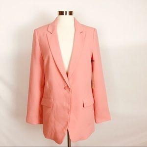 EXCLUSIVE FOREVER 21 | Coral Pink Feminine Blazer